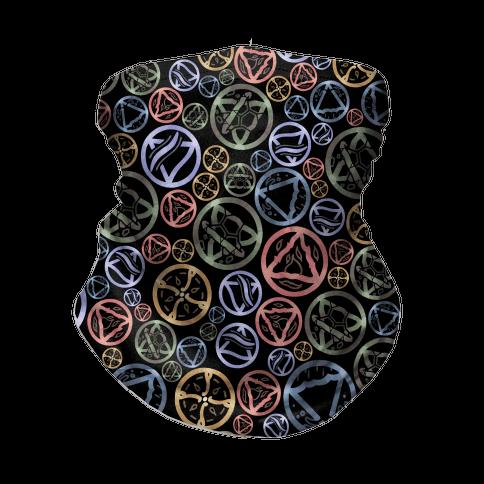 Witch's Elements Dark Pattern Neck Gaiter