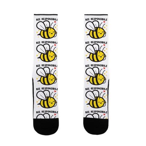 Bee Responsible Sock