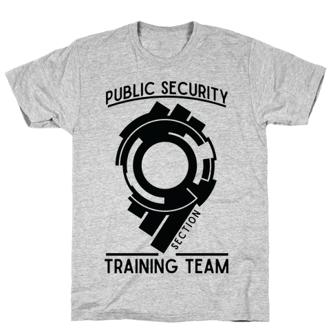 Section 9 Public Security Training Team  Mens T-Shirt