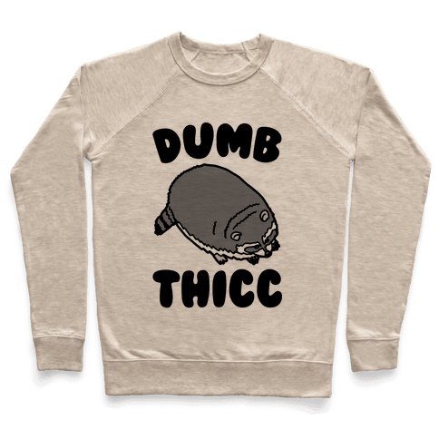 Dumb Thicc Raccoon Pullover