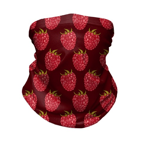 Raspberry Pattern Red Neck Gaiter