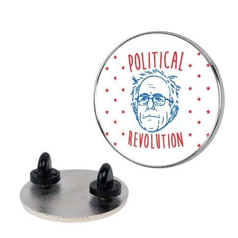 Bernie Political Revolution Pin