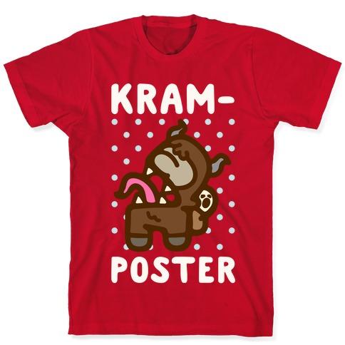 Kram-Poster White Print T-Shirt