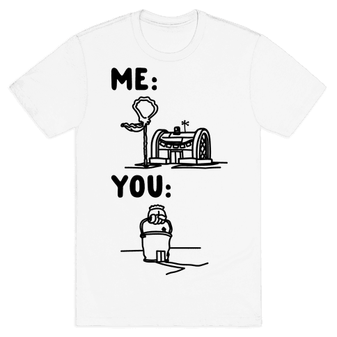 Me Vs. You Crust Chum Meme Parody Mens T-Shirt