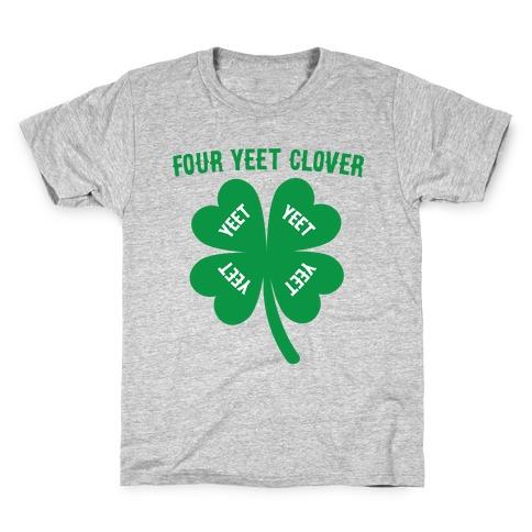 Four Yeet Clover Kids T-Shirt