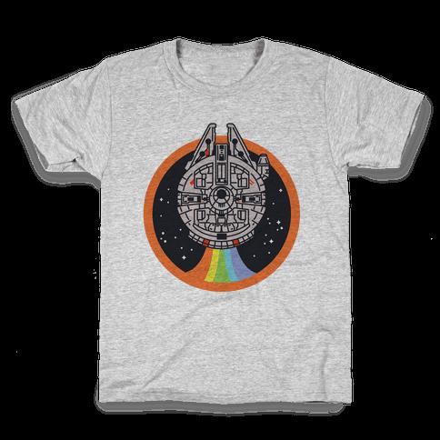 Retro Rainbow Falcon Kids T-Shirt