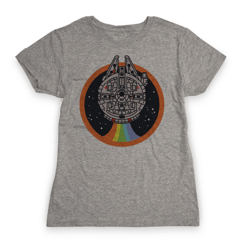 Retro Rainbow Falcon Womens T-Shirt