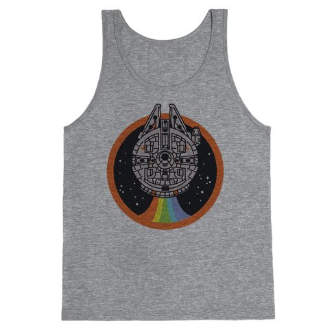 Retro Rainbow Falcon Tank Top
