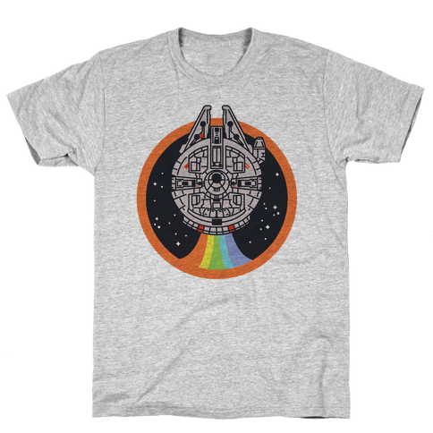 Retro Rainbow Falcon Mens T-Shirt
