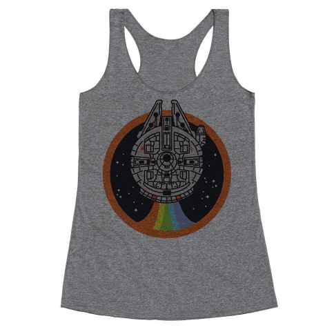 Retro Rainbow Falcon Racerback Tank Top
