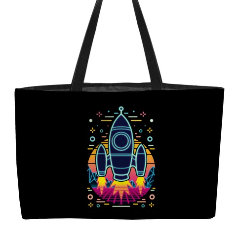 Synthwave Space Exploration Weekender Tote