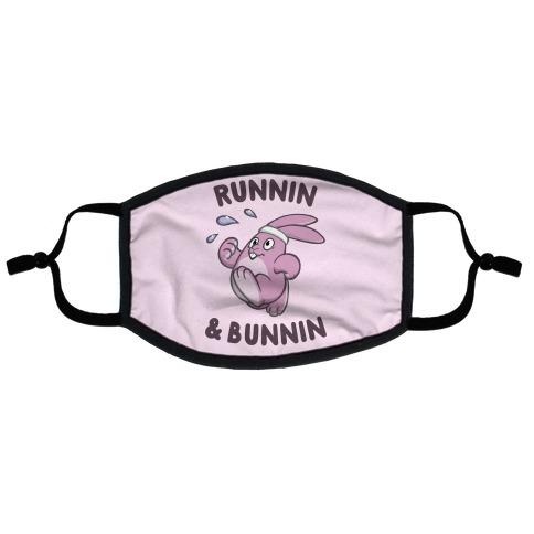 Runnin' And Bunnin' Flat Face Mask