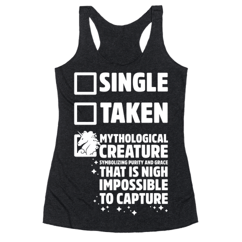 Single Taken Mythological Creature Racerback Tank Top