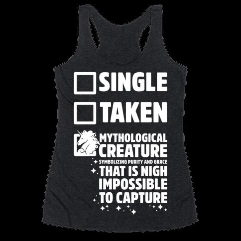Single Taken Mythological Creature Racerback Tank Top