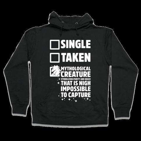 Single Taken Mythological Creature Hooded Sweatshirt