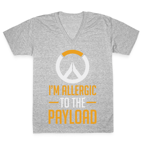 I'm Allergic to the Payload V-Neck Tee Shirt