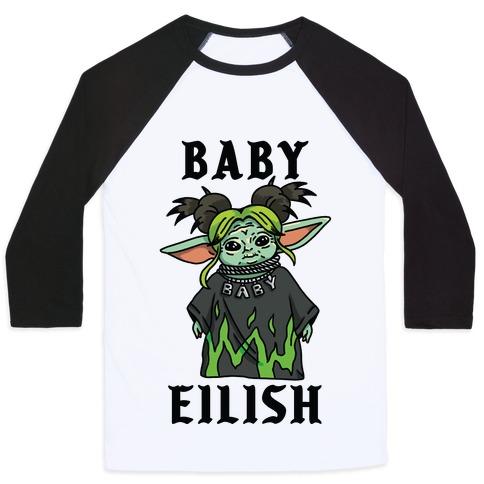 Baby Eilish Yoda Parody Baseball Tee