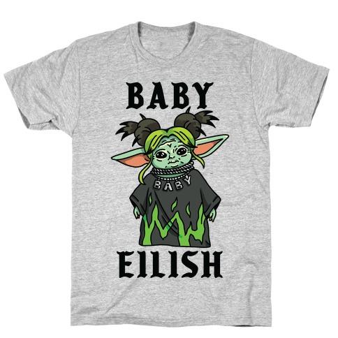 Baby Eilish Yoda Parody Mens/Unisex T-Shirt