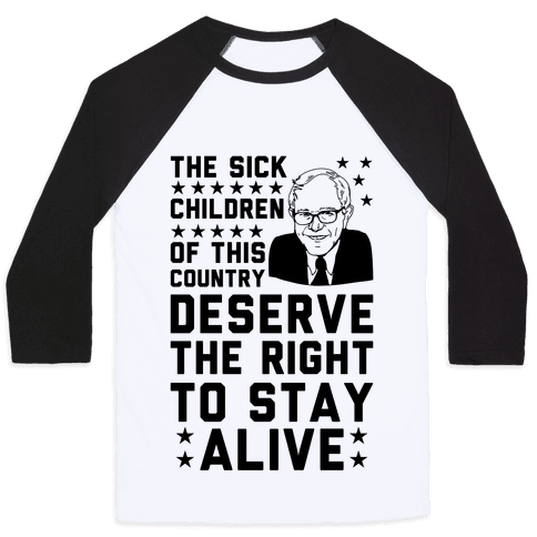 The Right To Stay Alive Bernie Baseball Tee