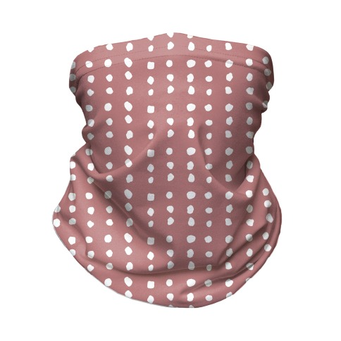 Polka Dot Dusty Rose Minimalist Boho Pattern Neck Gaiter