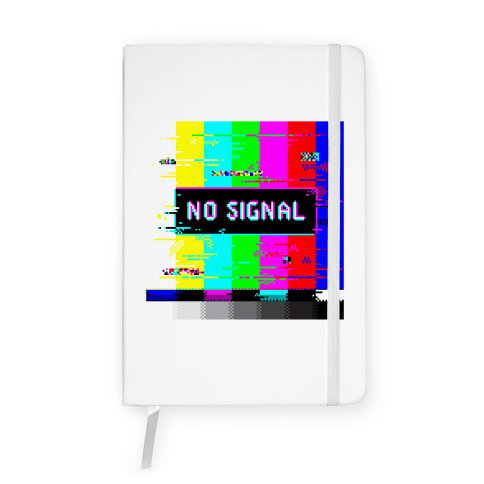 Glitchy No Signal Bars Notebook