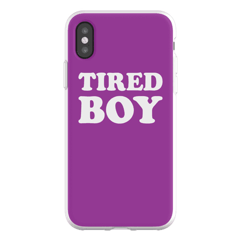 Tired Boy Phone Flexi-Case