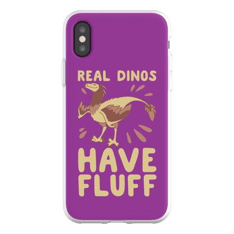 Real Dinos Have Fluff Phone Flexi-Case