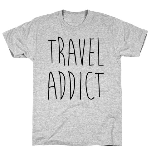 Travel Addict Mens T-Shirt