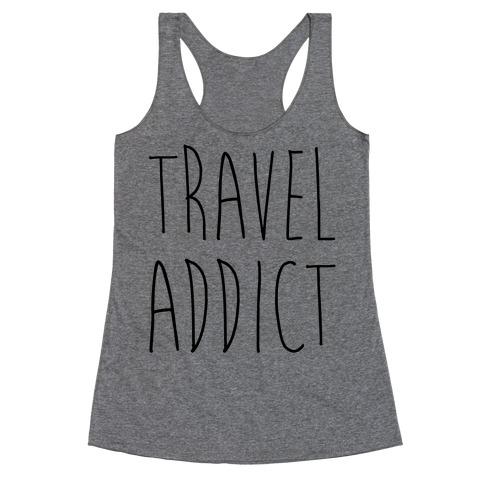 Travel Addict Racerback Tank Top