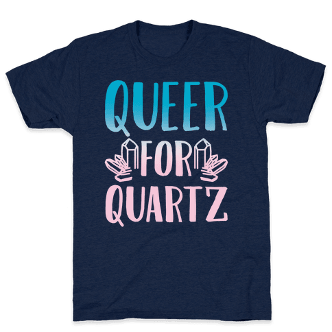 Queer For Quartz White Print Mens T-Shirt