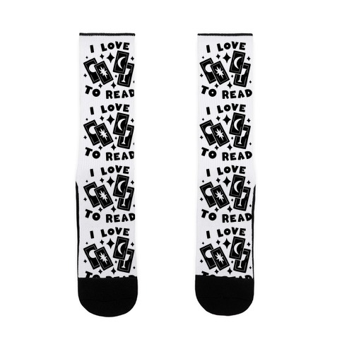 I Love To Read Tarot Sock