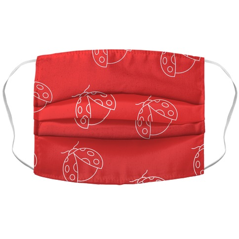 Ladybug Red Gradient Accordion Face Mask
