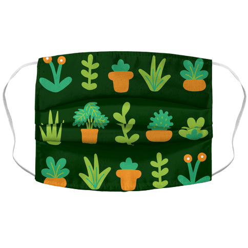 Graphic Plants Pattern Accordion Face Mask