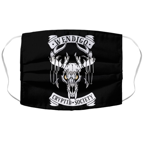 Wendigo Cryptid Society Accordion Face Mask