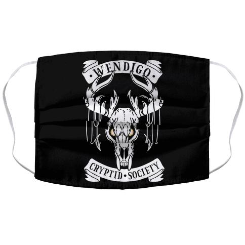 Wendigo Cryptid Society Face Mask Cover