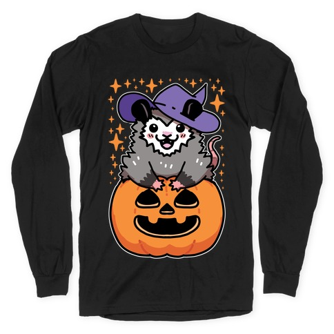 Cute Halloween Possum Long Sleeve T-Shirt