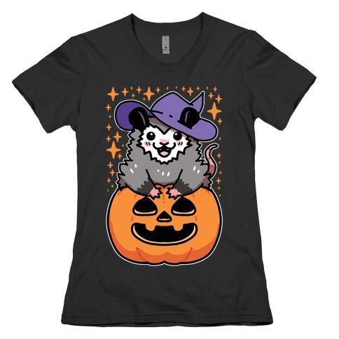 Cute Halloween Possum Womens T-Shirt