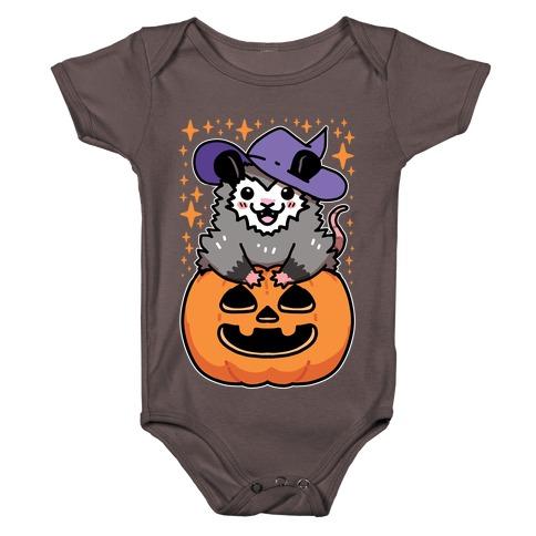 Cute Halloween Possum Baby One-Piece