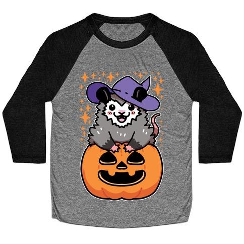 Cute Halloween Possum Baseball Tee
