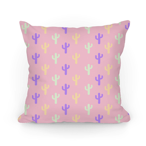 Pastel Cactus Pattern. Pillow