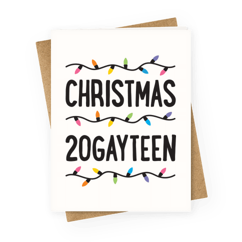 Christmas 20GAYTEEN Greeting Card