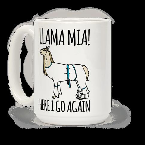 Llama Mia Parody Mug