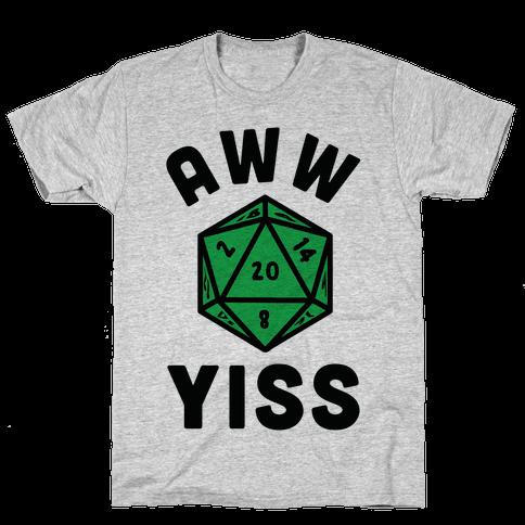 Aww Yiss D20 Mens T-Shirt
