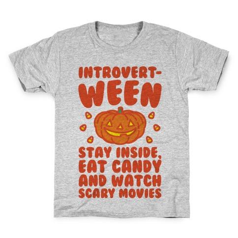 Introvert-ween Introverted Halloween Mashup Parody Kids T-Shirt