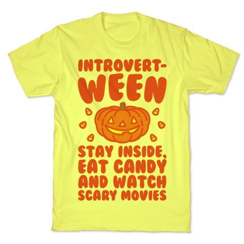 Introvert-ween Introverted Halloween Mashup Parody T-Shirt