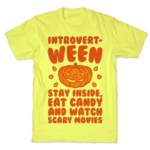 Introvert-ween Introverted Halloween Mashup Parody T-Shirt