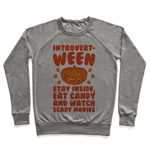 Introvert-ween Introverted Halloween Mashup Parody Pullover