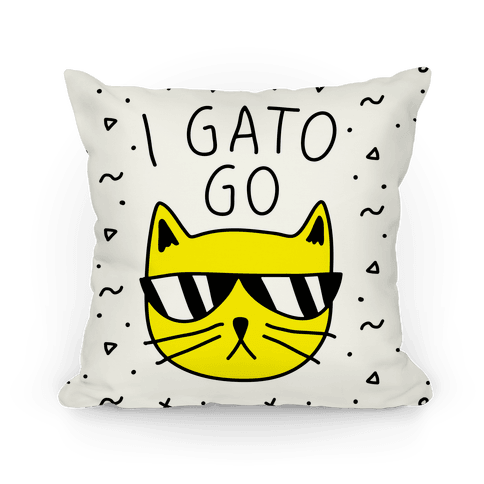 I Gato Go Pillow