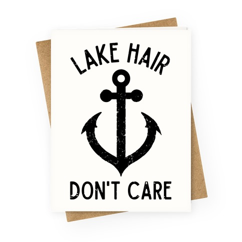 Summer camping greeting cards lookhuman lake hair dont care greeting card m4hsunfo