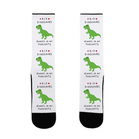 RIP Dinosaurs Sock